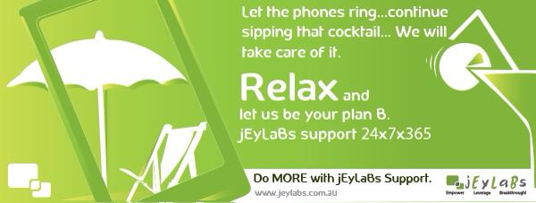 Relax with jEyLaBs Support